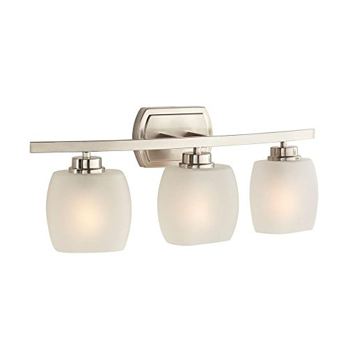 Hampton Bay Tamworth 3-light Brushed Nickel Vanity (Hampton Bay 3 Light Fixture)