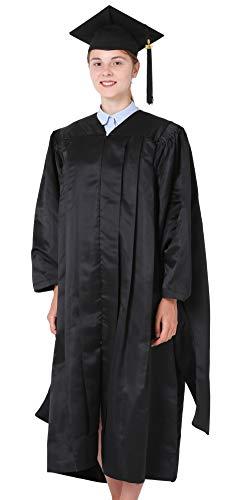 GraduationMall Unisex Deluxe Master Graduation Gown Cap Tassel Package Black X-Large ()
