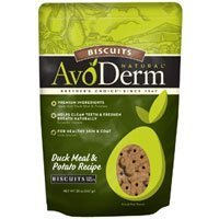 BREEDER'S CHOICE 528086 6-Pack Avoderm Natural Oven-Baked Potato and Duck Biscuits for Pets, 20-Ounce