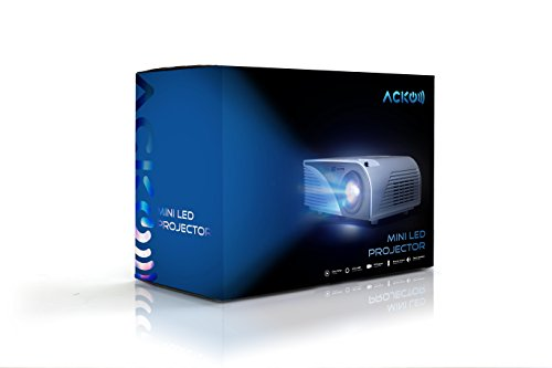 Acko Portable Mini HD LED Video Projector Office Home Theater 1200 LM Multimedia Outdoor 20''-150'' HDMI VGA USB AV SD Audio 1080P Smart Phone Tablet PC Computers Laptops White Warranty Included by EpandaHouse (Image #7)'