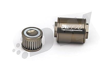 amazon com deatschwerks stainless steel 8an 10 micron universal