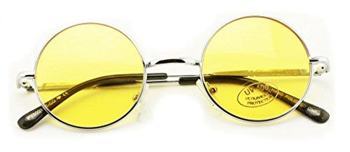 Small Round Hipster Fashion Sunglasses Lennon Elton Potter - Glasses Yellow John Lennon