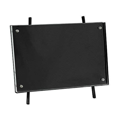 Isaac Jacobs 5x7 Black Magnetic Acrylic Metal Easel Frame (5x7 Horizontal) (Black)