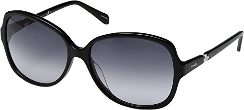 Fossil Women's Fossil 2046/S Shiny Black With Gray Gradient Lens - 2046 Sunglasses