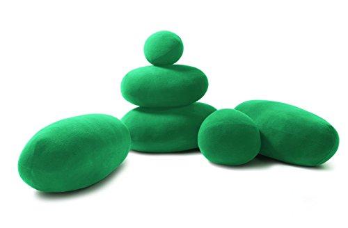 Vercart (TM) - Stein Plüsch Kissen 6 Pcs Green Mixed sizes - Wohndekoration Kuscheltier Hintergrund und Requisit von Fotos und Films (012)