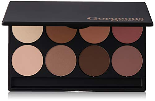 Gorgeous Cosmetics Contour Palette, 8 shades, Compact with Mirror