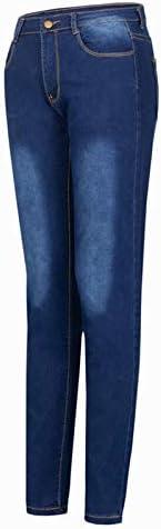 Vaqueros para Mujer Cintura Alta Tallas Grandes Leggins Mujer Pantalones Jeans Mujer El/ástico Flacos Skinny Slim Fit Delgados Pantalones Largos De Mezclilla Jeans Push Up