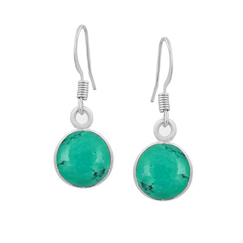 Turquoise Dangle Earrings 925 Silver Plated Handmade Jewelry For Women Girls ()