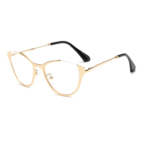 TIJN Cat-eye Metallic Optical Eye Glasses Spectacles - Eye Cat Frames Optical