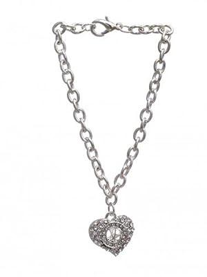 Justin Bieber Crystal Heart Bracelet
