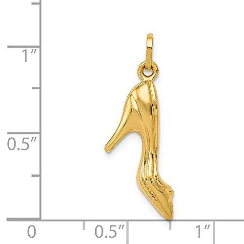 14k Yellow Gold High Heel Shoe ()