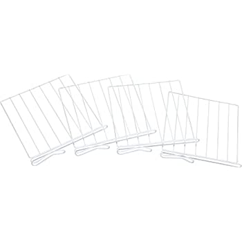 Amazon.com: Miles Kimball White Wire Closet Shelf Dividers - Set ...