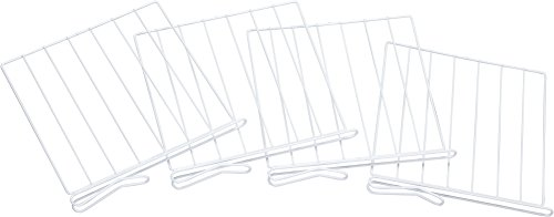 Miles Kimball White Wire Closet Shelf Dividers - Set Of 4