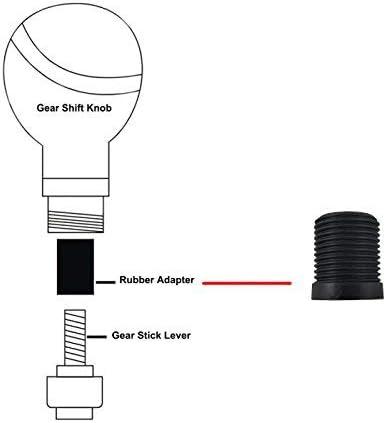 Black Lunsom Metal Shift Knob Manual 5 Speed Car Aluminium Alloy Gear Shifter Lever Stick Handle Head Fit Most Auto Transmission Vehicle