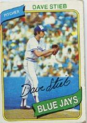 1980 Topps Baseball Rookie Card #77 Dave Stieb ()