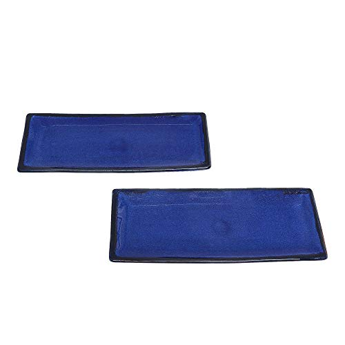 - NOVICA Hand Crafted Ceramic Food Safe Platters, Blue, Bright Day' (pair)