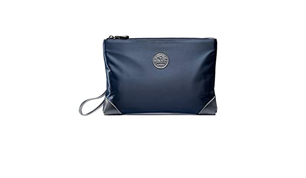 PPGE Bolsos De Mano Hombre Lona Oxford Clutch Bag Underarm Bag Negocios Billetera Mu?eca Embrague Tarjetas,Tarjetas De Billetera Portátil Cremallera Llaves ...