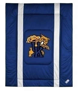 NCAA Kentucky Wildcats Sidelines Comforter, King, Bright Blue by Sports Coverage
