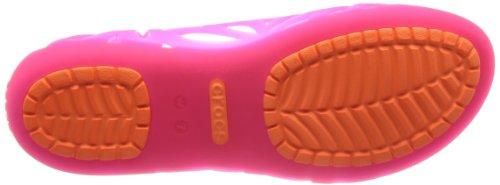 Crocs Kvinners Adrina Iii Flat Levende Rosa / Kosmisk Oransje