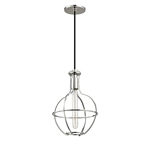 Riverside Ceiling Fan (Colebrook 1-Light Pendant - Polished Nickel Finish with Polished Nickel Metal Shade)