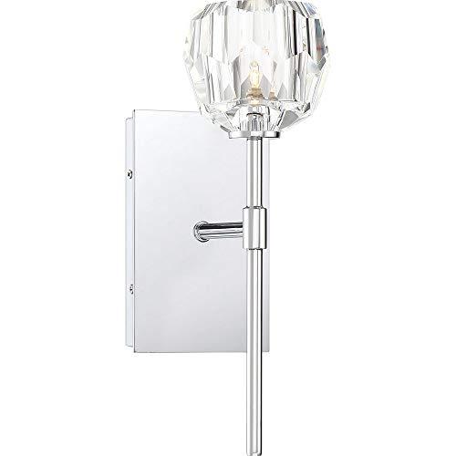 - Quoizel RGA8601C Regalia Prismatic Crystal Vanity Wall Lighting, 1-Light, 40 Watt, Polished Chrome (14