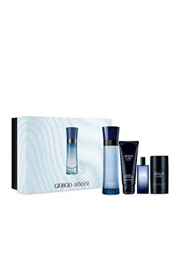 (Armani Code Colonia 4-Piece Set for Men 4.2 oz Edt Spray & 0.5 oz Edt Spray & Code Deodorant & 2.5 oz Body Shampoo)