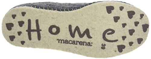Pantoffeln Grau am Macarena Lana Ochos Damen Isasa82 Gris RanWWv7Bx