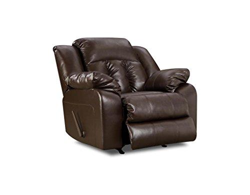 (Simmons Upholstery Sebring Bonded Leather Swivel Glider Recliner)