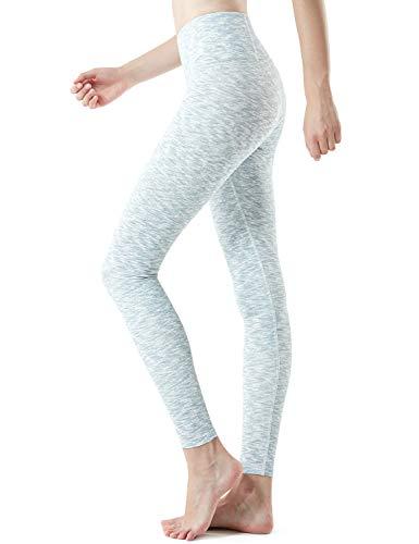 TSLA Mid/High Waist Yoga Pants with Pockets, Tummy Control Yoga Leggings, 4 Way Stretch Workout Running Tights