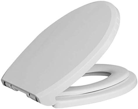 YSDHE 小型シートPPボード抗菌トップ付き便座成人した子供の便座は、Vシェイプトイレ、ホワイト-360 * 450ミリメートルのために厚いトイレのふたをマウント