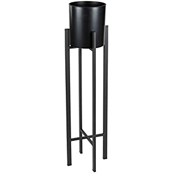 plant stand set modern plastic planter with tall metal stand decorative tall. Black Bedroom Furniture Sets. Home Design Ideas