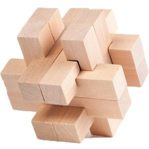 Hayes Interlocking Large 3D Wooden Puzzle Brainteaser Puzzles Monthly