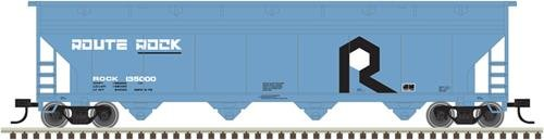 Atlas Trainman N 50003527 ACF 5250 Cu Ft 4-Bay Covered Hopper Rock Island RI #135250