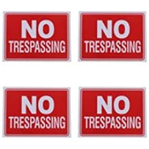 No Trespassing Sign 9 x 12 Inch - 4 Pack