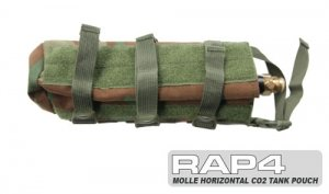 MOLLE Horizontal CO2 Air Tank Pouch (Small) (Woodland) - paintball pouch