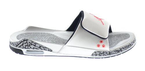 c9cc818e6d487 Galleon - Air Jordan 3 Men s Slides White Infrared 23-Wolf Grey-Black  428789-106 (8 D(M) US)