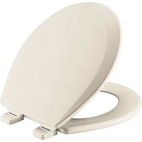 (CHURCH 540TTT 346 Toilet Seat will Never Loosen and Provide the Perfect Fit, ROUND, Biscuit/Linen)