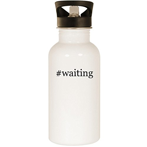 #waiting - Stainless Steel Hashtag 20oz Road Ready Water Bottle, White ()