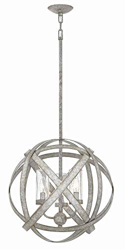 Hinkley 29703WZ Transitional Three Light Outdoor Chandelier from Carson collection in - Chandelier Hinkley Contemporary Lighting