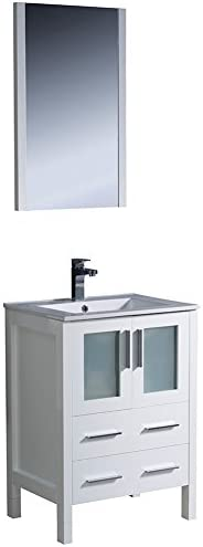Fresca Bath FVN6224WH-UNS Torino 24 Vanity with Sink, White