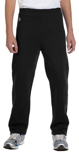 Russell Athletic Youth Dri-Power Open-Bottom Fleece Pant, BLACK, Medium