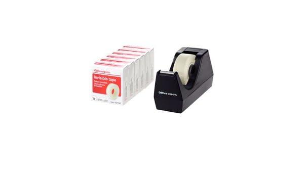 Para colocar el uso dispensador de cinta adhesiva 33 m (pequeño núcleo) con aro y cintas de 6 transparente y rollos de cinta adhesiva 19 mm x 33 1563186: ...