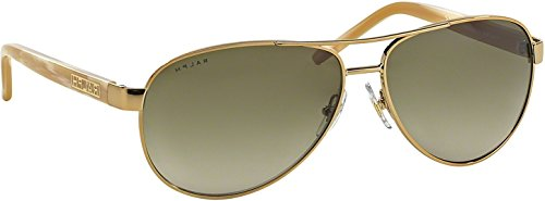 Ralph By Ralph Lauren RL-RA4004 - 101/13 Gold and Cream with Brown Gradient Lenses Women's Sunglasses 13 Sunglasses Gold Frame