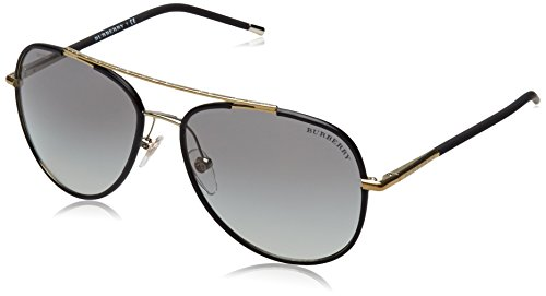Burberry BE3078J Sunglass-114511 Gold/Matte Black (Gray Grad - Burberry Warranty