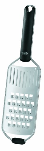 Rosle Cheese Steel Stainless (Rösle Stainless Steel Coarse Grater, Silicone Handle, 13-inch)