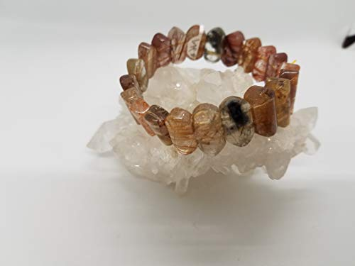 - 3 Blessing Rutilated Quartz Healing Stones Bracelets, 7