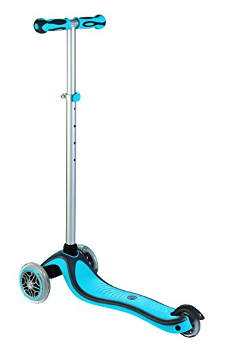 Globber 3 Wheel Adjustable Height Scooter (Light Blue/Gray) by Globber (Image #1)