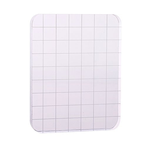 CCINEE Clear Stamp Block Transparent Acrylic Block with Grid and Grip for Stamping Scrapbooking Craft Making