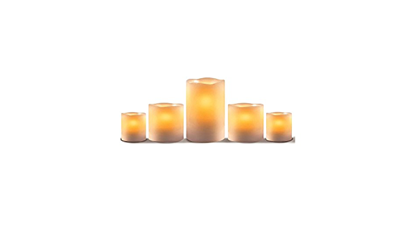 Amazon Com Apothecary 5 Piece Flameless Candle Set Ivory Home Improvement