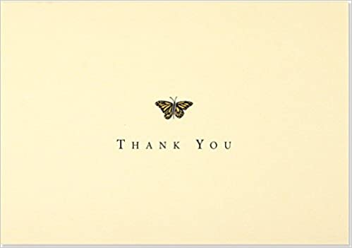 Gold Butterfly Thank You Notes Stationery Note Cards Note Card